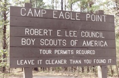 Camp Eagle Point Sign