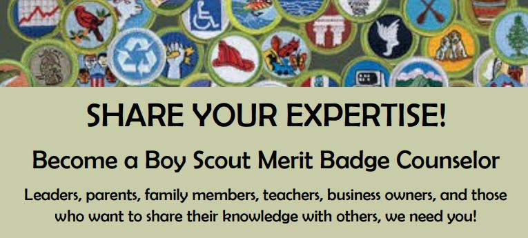 image about Printable List of Merit Badges named Advantage Badge Counselor