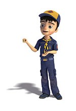 cub scout animated boy