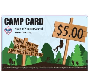 EASY FUNDRAISING OPPORTUNITY: CAMP CARDS ARE COMING!